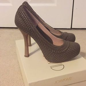 Joan & David Basket Weave Pumps